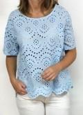 blusa calada azul