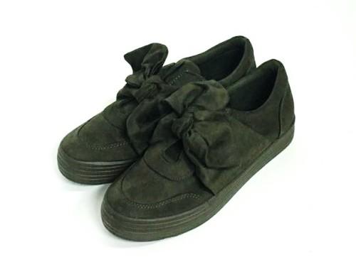 zapatillas verde militar con lazo