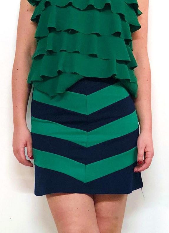 gran descuento disfruta el precio más bajo Amazonas Falda Azul Rayas Verdes